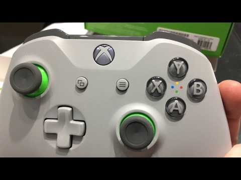 Xbox One Wireless Controller - Grey/Green - Unboxing
