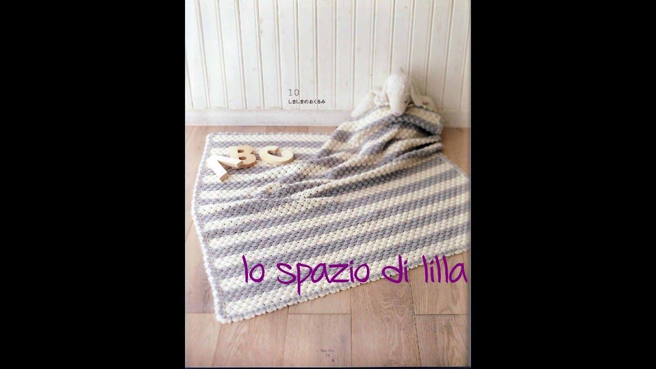 Lillas Tutorials Copertina Crochet Stripes Crochet Baby Blanket