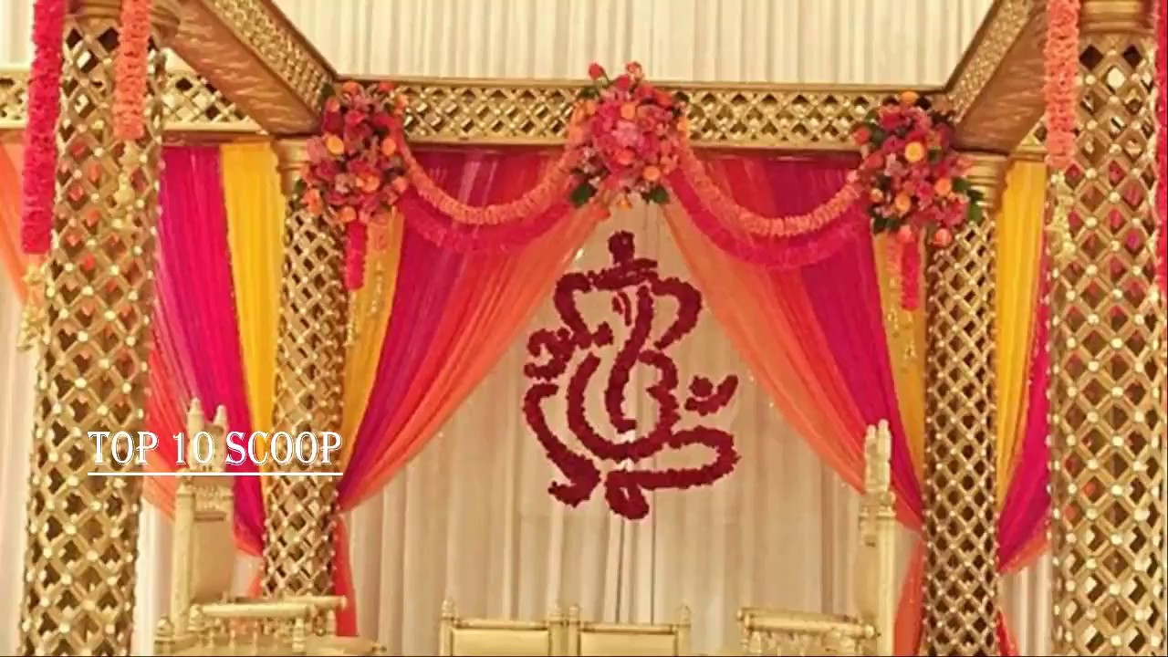 South Indian Wedding Stage Decoration Ideas Youtube