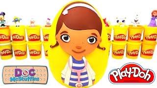 Ovo surpresa Gigante da Doutora Brinquedos em Português Brasil de Massinha Play-Doh