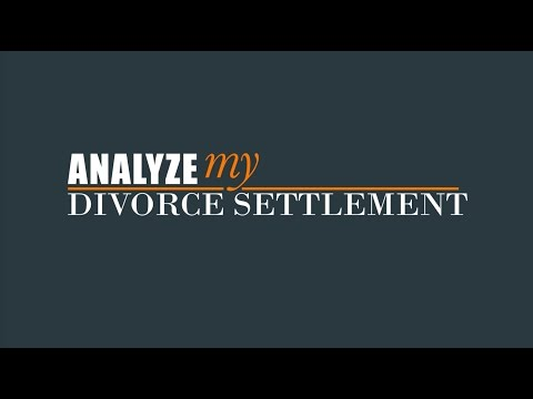 Introduction to Analyze My Divorce Settlement