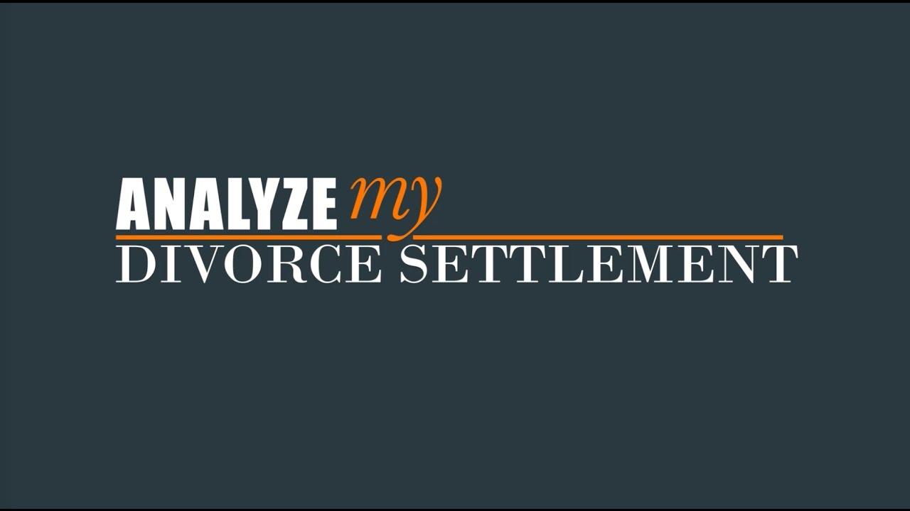 Introduction to analyze my divorce settlement youtube introduction to analyze my divorce settlement solutioingenieria Gallery