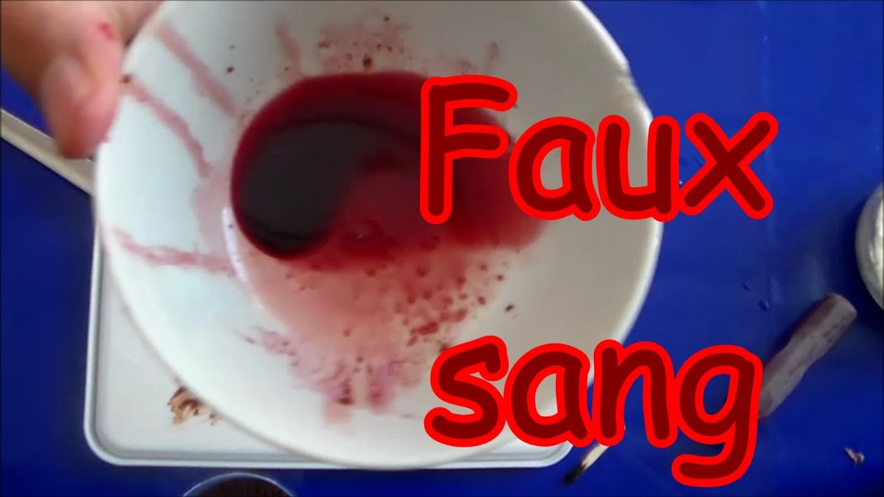 Faux sang  Recette pas cher pour effets spéciaux à Halloween ...