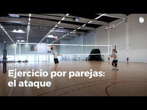 Ejercicio por parejas: el ataque | Voleibol