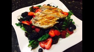 Figs and Berry salad with Grilled Chicken Breast Recipe