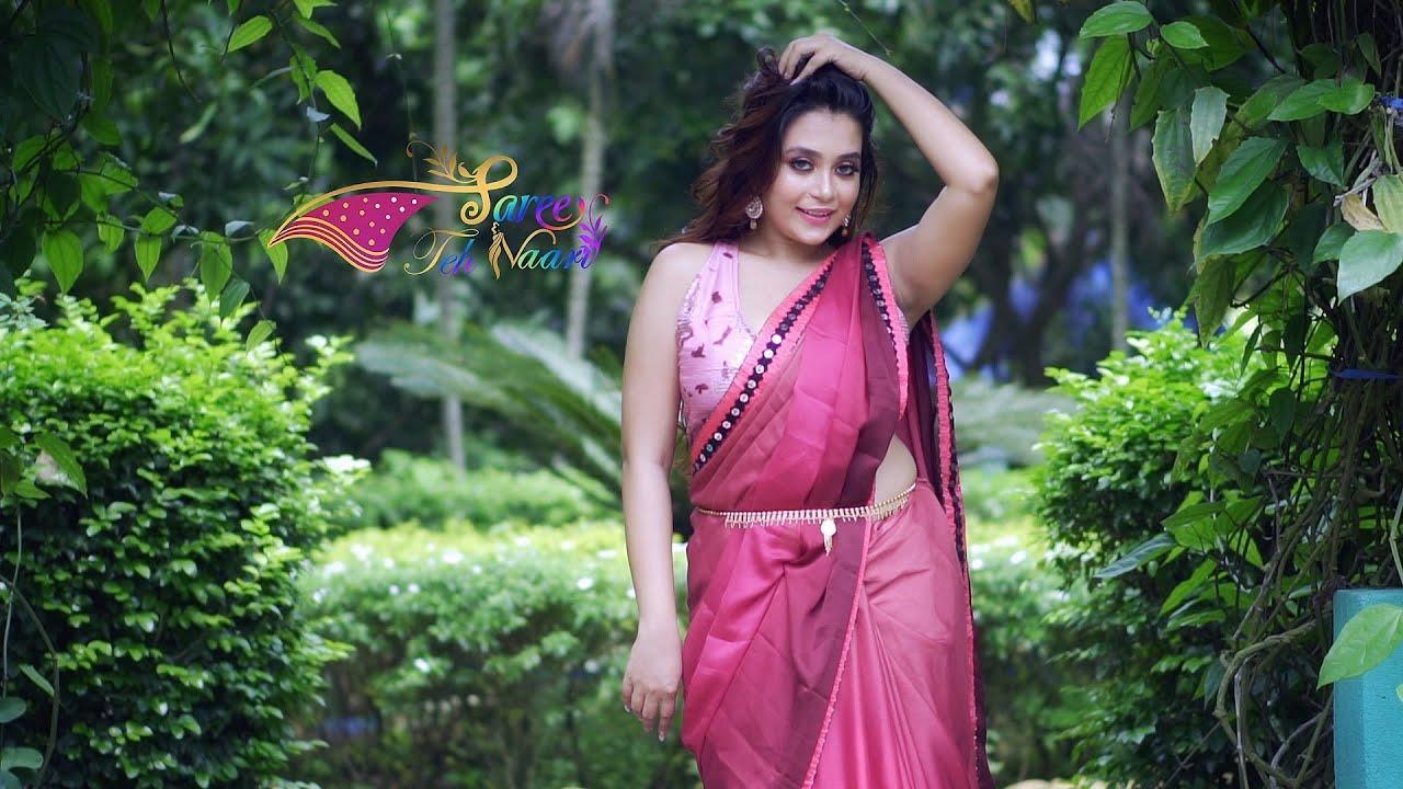 Download Saree Lover 2021   FT. Bong Sensation Rimpi In Maroon Saree    Saree Fashion   Saree Teh Naari
