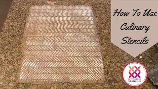 How To Use Culinary Stencils On Crackers