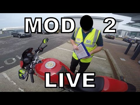 MOD 2 2017 / 2018 - UK Motorbike Test - Live Footage with Commentary (2/2)