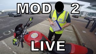 MOD 2 2019 - UK Motorbike Test - Live Footage with Commentary (2/7)