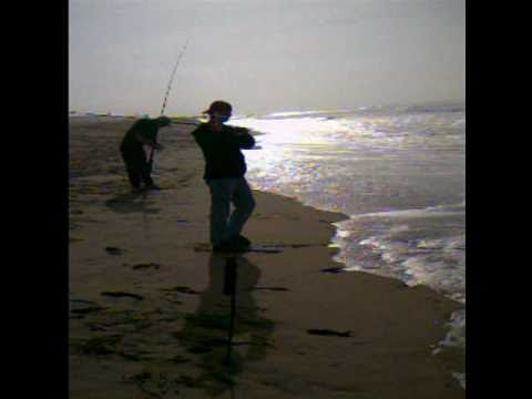 Surf fishing seal beach california youtube for Seal beach fishing