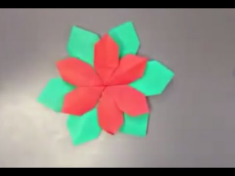 How To Make A Origami Poinsettia Flower Youtube