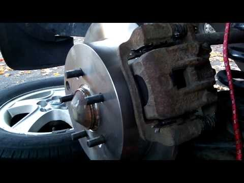 2004 Hyundai Santa fe..changing rear brake rotors and pads