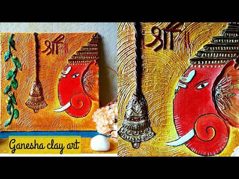 Diy Ganesha Clayart On Canvas Ganesha Wall Art 3dwallmural