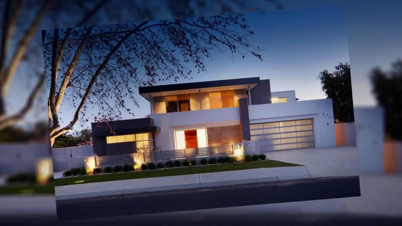 Fachadas de casas 2016 estilos modernos youtube for Casa minimalista una planta