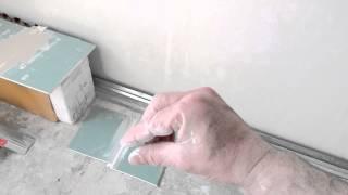 шпатлёвка швов гипсокартона , резаный не заводской край(, 2015-05-03T21:27:38.000Z)