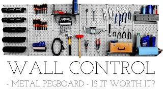 Wall Control - A Worthy Upgrade? // Metal Pegboard System // Unboxing, Installation and Review