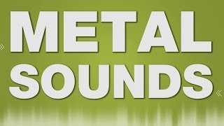 Metal Hit Steel Rack SOUND EFFECT - Stahlregal Metal SOUNDS