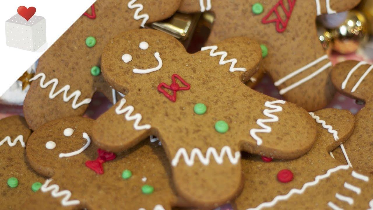 Cómo hacer Galletas de Jengibre Navideñas (Gingerbread man ...