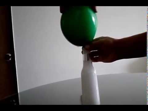 Como inflar un globo con vinagre y bicarbonato en cinco for Ambientador con suavizante y bicarbonato