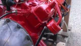 Firing up  a, Mopar 318 Poly (a) engine.