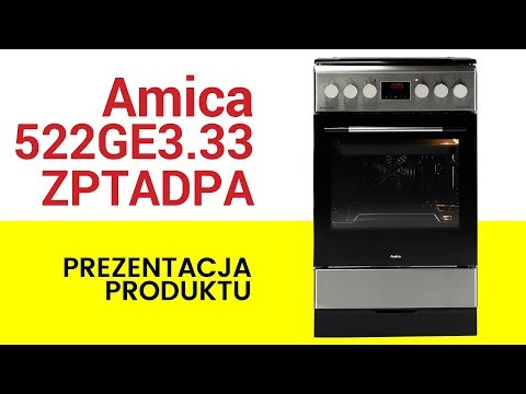 Kuchnia Amica 522ge333zptadpaxx Youtube
