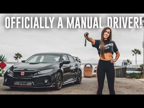 TEACHING MY GIRLFRIEND HOW TO DRIVE MANUAL IN THE TYPE R PT 2