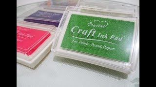 UNBOXING - REVIEW SHOPEE | Colorful Craft Ink Pad