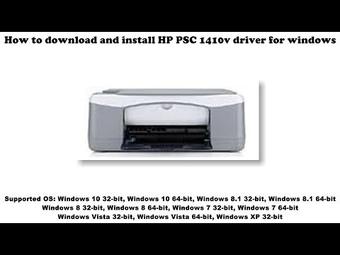 How To Download And Install HP PSC 1410v Driver Windows 10, 8 1, 8, 7, Vista, XP