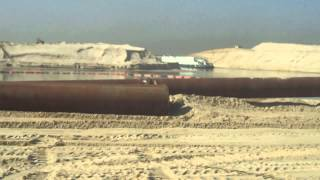 See Drilling and Dredging and drag and expel sand in the new Suez Canal January 22, 2015