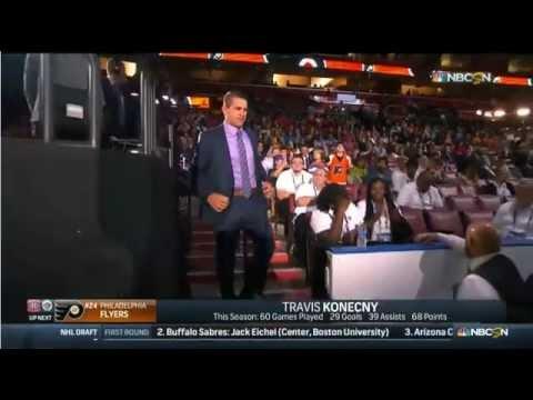 Philadelphia Flyers select Travis Konecny - 2015 NHL Draft.