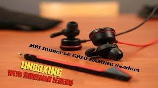 MSI Immerse GH10 Gaming Headset ll UNBOXING Wth ShreeMan LegenD