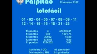 LOTOFACIL  CONCURSO  1167  04022015