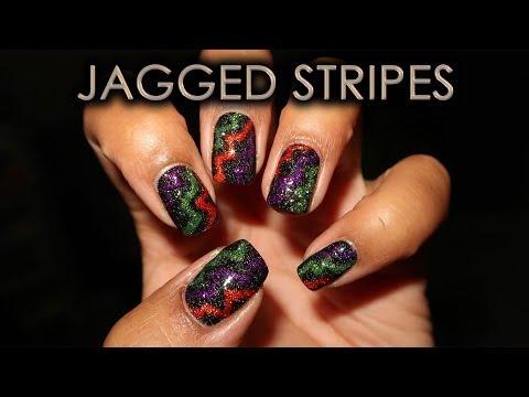 Jagged Stripes | DIY Nail Art Tutorial thumbnail