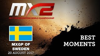 MX2 Best Moments - MXGP of Sweden 2017 - motocross