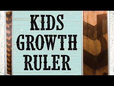 DIY 2-tone Stained Kids Growth Chart Ruler