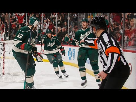 Wild tally six goals in third period