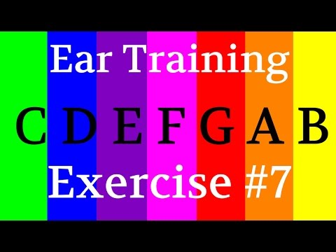 Perfect pitch Absolute pitch | Imprint notes in your brain with color | ear training inervals #7