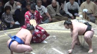 20140125 大相撲初場所14日目 琴欧洲 vs 玉鷲 カロヤン勝ち越し.