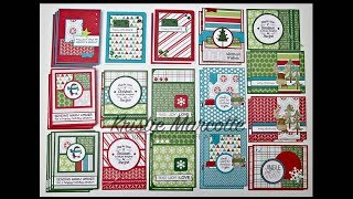 Reverse Confetti's Very Merry - 36 cards from one 6x6 paper pad