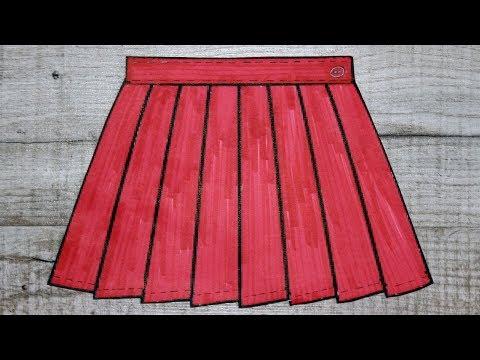 Как сделать складку на юбке