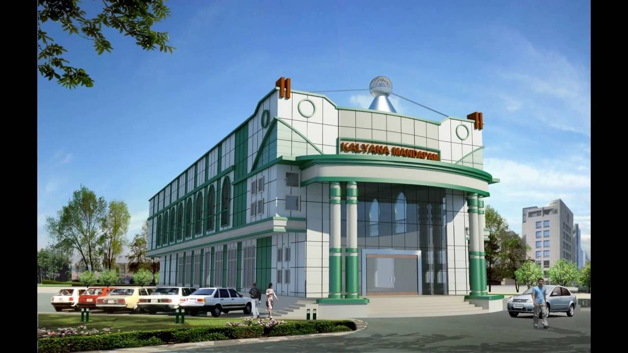 Marriage Hall Front Elevation Designs : Kalyana mandapam architect designs