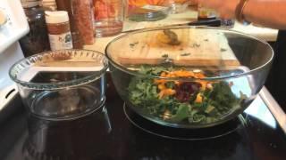 Best Ever Kale Pepper Cranberry Jam Salad