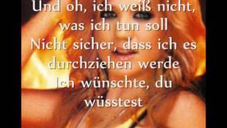 Kelly Clarkson I hate myself for Losing you with  German translation