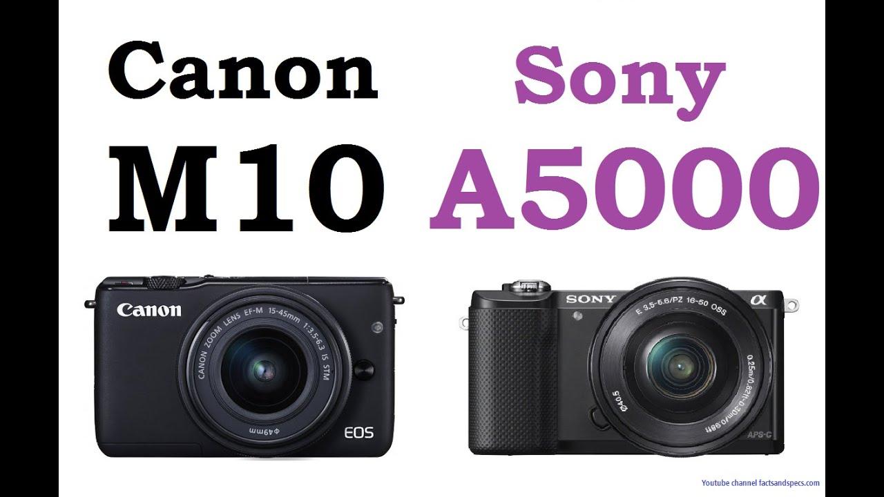 Canon EOS M10 vs Sony A5000