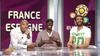 100% Euro - Omar Sy & Ramzy - Fou Rire Présentation De L'équipe Type D'Espagne (19-06-2012) thumbnail