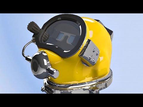 US Navy's Futuristic HUD Diving Helmet: Diver Augmented Vision Display (DAVD)