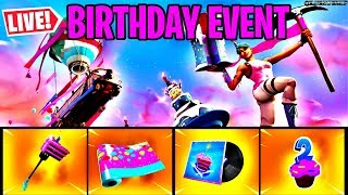 🔴 *NEW* BIRTHDAY EVENT, REWARDS & NEW SCOUT SNIPER RIFLE UPDATE (FORTNITE LIVE)