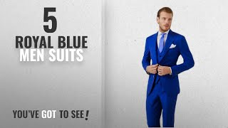 Top 10 Royal Blue Men Suits [Winter 2018 ]: AK Beauty Men