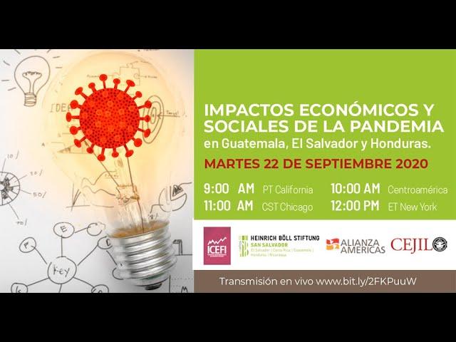 Impactos económicos y sociales de la pandemia en Guatemala, El Salvador y Honduras