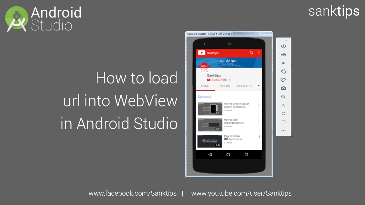 How to Load a website in Webview in Android Studio | Sanktips